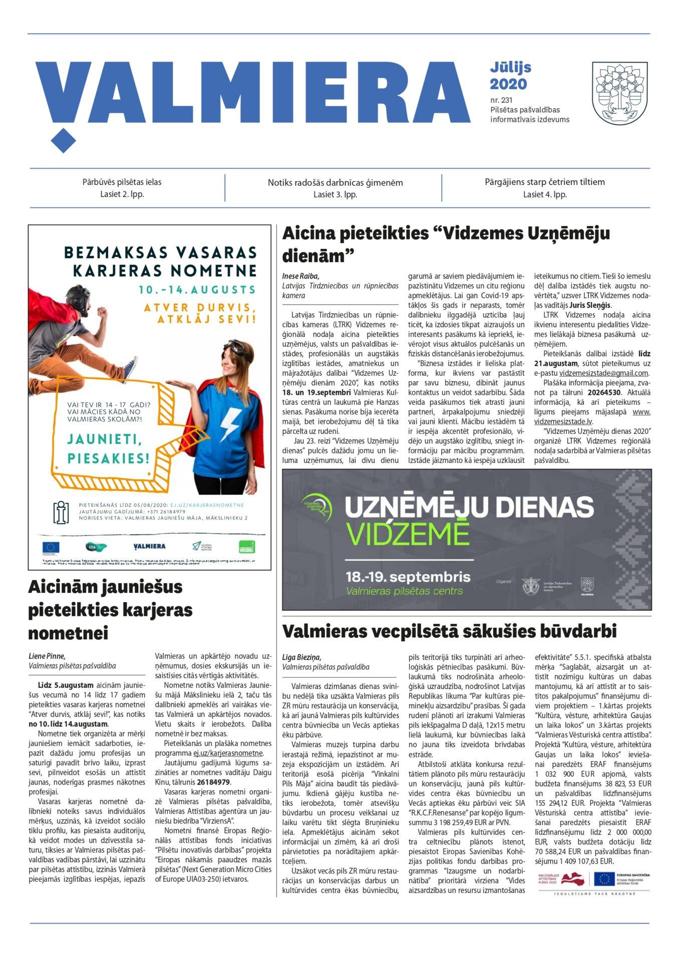 Valmieras pilsētas pašvaldības informatīvais izdevums Nr.231