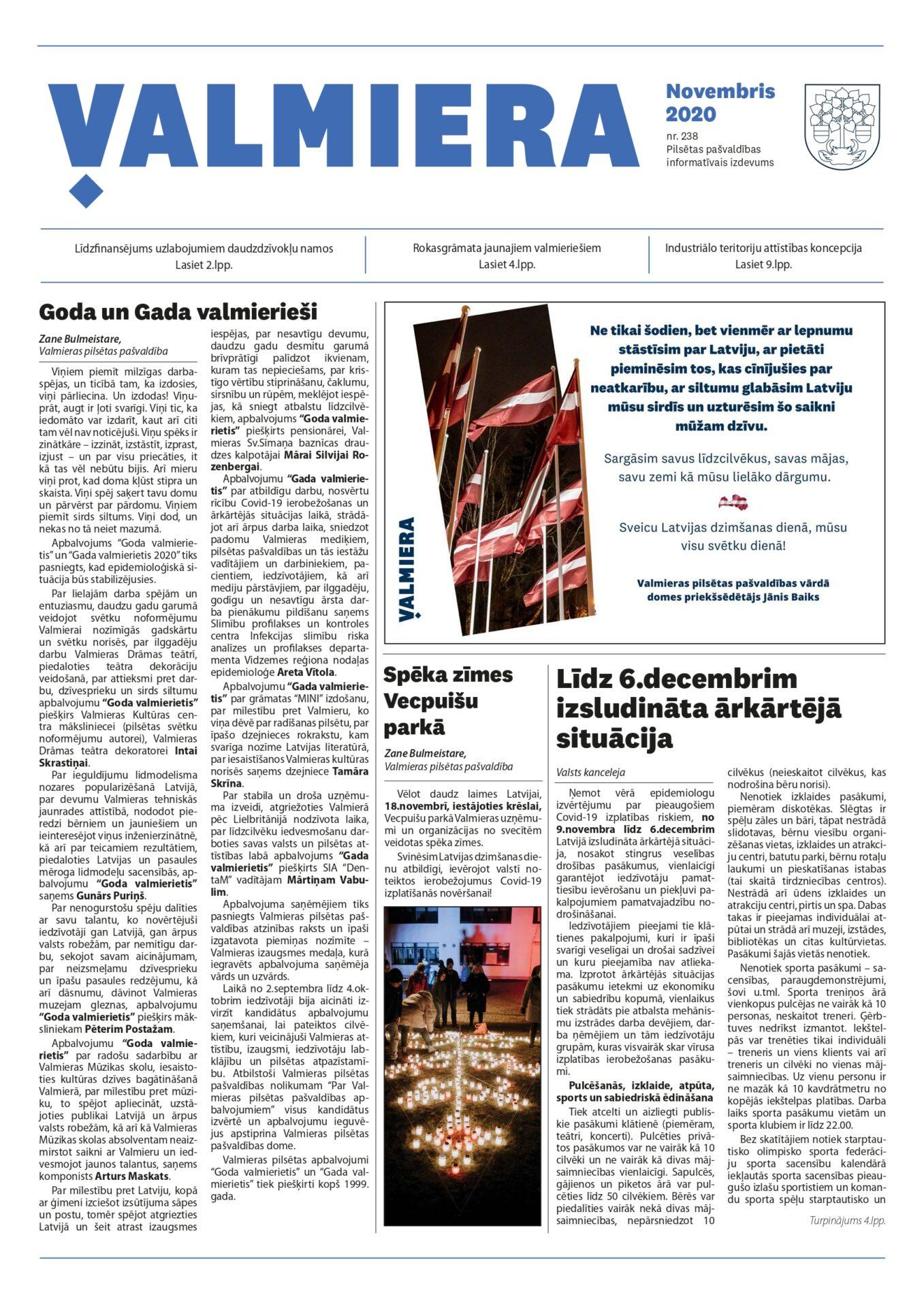Valmieras pilsētas pašvaldības informatīvais izdevums Nr.238